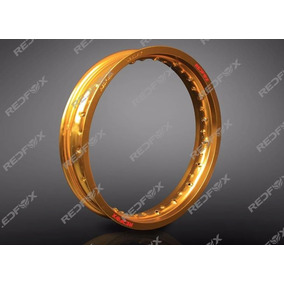 Par Aro Roda Alumínio Dourado Honda Titan 125/150 Fan 125/15