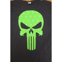 Camiseta Comic The Punisher Original Negra Talla Xl