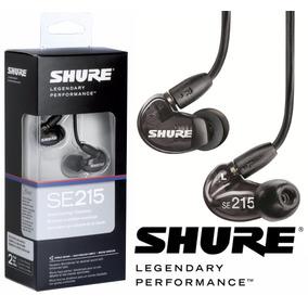 Fone In Ear Shure Se215 Preto - 2 Anos De Garantia.