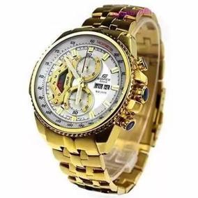 Relógio Cassio Edifice Efr-558 Red Bull Original Branco Gold