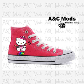Converse Hello Kitty Kawaii Music Fucsia Pintado A Mano