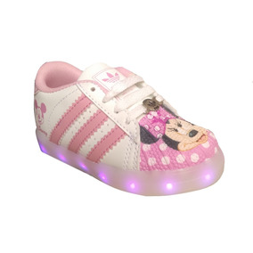 Tenis Led Niña Mimi Minnie Recargable Nacional 17.5