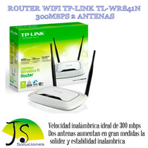 Router Inalambrico N 300mbps Tl-wr841nd 2 Antenas