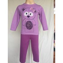 Conjunto De Moleton Blusa E Calça Infantil Menina