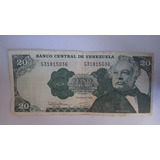 Billete 20 Bs Dic 1992 Serial G8