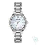96x147 Reloj Bulova Box Set Para Dama Plateado