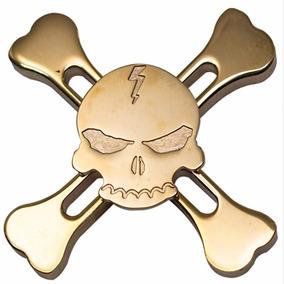 Spinner Caveira Metal Skull Gira Muito Pirata Frete Grátis