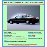 Manual De Taller Reparación Diagram Honda Accord Coupé 94-97