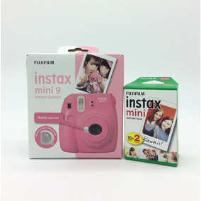 Kit Instax Mini 9 Rosa Flamingo + Filme 20 Fotos