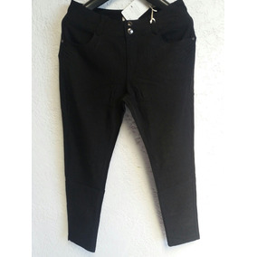 Pantalones Alycrados Chupin. Negro. Talles Del 3xl Al 5xl