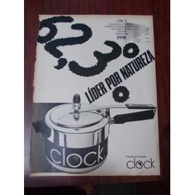 Propaganda Antiga - Panela De Pressão Clock - Tramontina