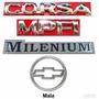 Emblemas Corsa Hatch Mpfi Milenium + Mala - 2000 À 2002
