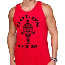Musculosa Golds Gym, Crossfit Gimnasio 100% Algodon Organico