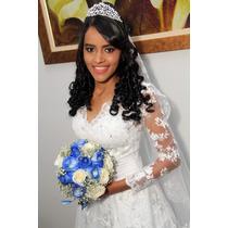 Vestido De Noiva Elegante Longo Em V Com Rendas