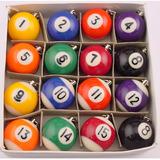 Chaveiro Mini Bola De Bilhar / Sinuca - Escolha O Número