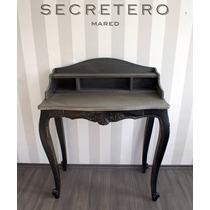 Secreter Escritorio Mueble Vintage Madera Cedro Fotos Reales