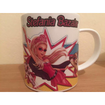Set De Jardin Personalizado Con Taza Barbie Princesa Rockera