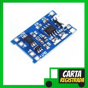 Módulo Carregador Baterias Lítio Tp4056 5v 1a 18650 - Carta