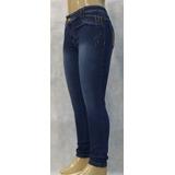 Calça Jeans Skinny Plus Size Cintura Alta Levanta Bumbum1285