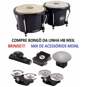 Bongo Meinl Journey Series Abs Preto Hb50bk + Brindes !!!