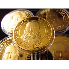 Moneda Medalla Maximiliano 1832 1867 Color Oro