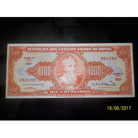 Cedula C106 Fe Dinheiro Antigo Mil Cruzeiros
