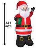 Inflable Navideño Santa Claus Con Luz 1.98 Mtrs Envío Gratis