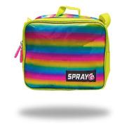 Lonchera Multicolor Lunch Bag Lines Spray G