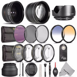 Kit Vivitar Dlsr 52 Mm Essential Accs+wide Angle+telephoto