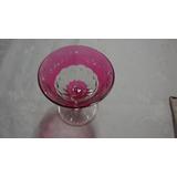 Copo Taça Vinho Tinto Vidro Cristal Vermelho Antiguidade 6