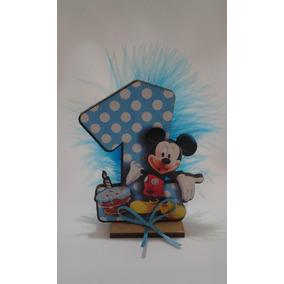 Souvenir Mickey 1 Año Decorado Fibrofacil