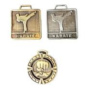 100 Medallas Deportivas Karate Yudo Artes Marciales 3,5cm