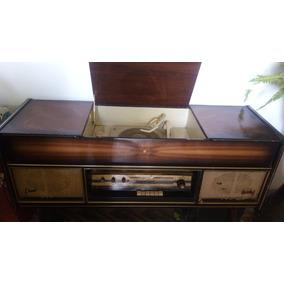 Consola Tocadiscos Con Radio Antiguo De Los Años 50