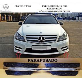 Par Farol De Milha Mercedes C180 Led Drl W204 Parafusada