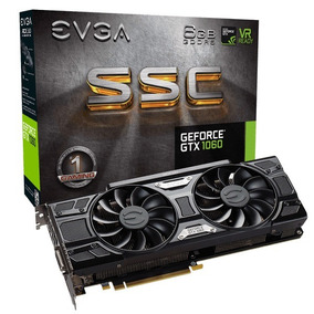 Placa De Video Evga Geforce Gtx 1060 6gb Ssc Acx3.0 Garantia