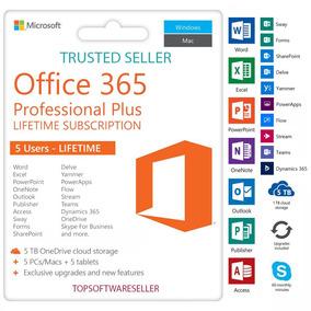 Microsoft Office 365 /5 Pc Mac/android Phone/original 5tb
