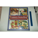 Livro Importado Country Stenciling Artesanato Decoupage 2002
