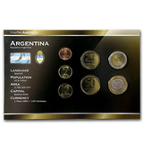 Ar Argentina 1 Centavo-2 Pesos 7 Juego De Monedas Uncircul