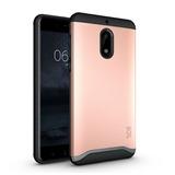Nokia 6 Funda Tpu Rosa Protección Extrema Doble Capa Unica