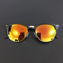 Óculos De Sol Feminino Espelhado Clubemaster Unissex