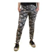 Pantalón Importado Jogging Camuflado Frizado Con Puño