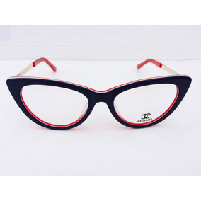 ef79eb2c17f43 ... Sapatinho Chanel Modelo Gatinho -cn800. São Paulo · Óculos De Grau Azul  E Vermelho Chanel Fotos Reais -cn501