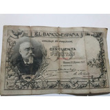 Billete Antiguo Peseta De 1905