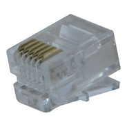 Conector Modular Plug 6x6 Rj11 Hikari - Conjunto 10 Peças