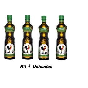 Kit 4- Azeite Portugês De Oliva Extra Virgem Gallo - 500ml