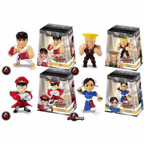 Kit 4 Boneco Street Fighter Ryu Bison Chun-li Guile Metals