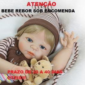 Bebe Reborn Realista Menino Loiro Original Sob Encomenda