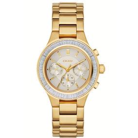 Reloj Dkny Original Nuevo Ny2395 El Mejor Precio Tono Oro