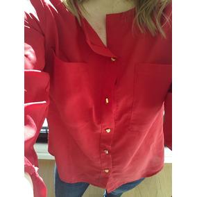 Camisa Manga Larga Roja Talle Único