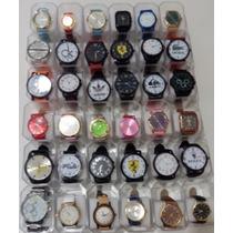 Relógios Femininos E Masculinos Kit Com 40 + Caixas -atacado